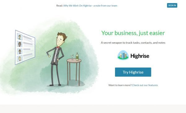 Highrise CRM for startups-Shoutex