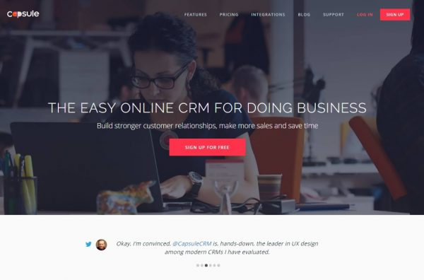 capsule CRM for startups-Shoutex