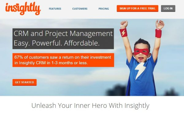 Insightly CRM for startups-Shoutex