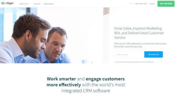 vtiger CRM for startups-Shoutex