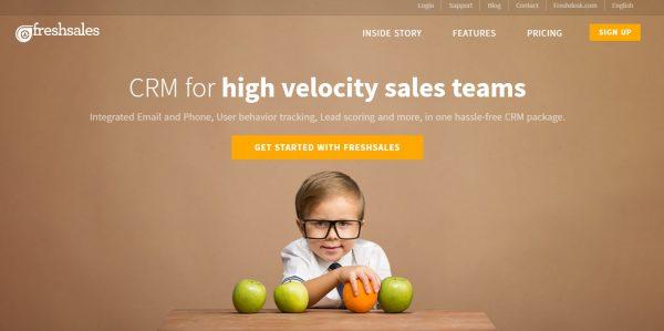 freshsales CRM for startups-Shoutex