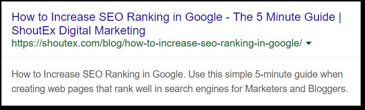 How to Increase SEO Ranking in Google - Optimizing Meta Elements