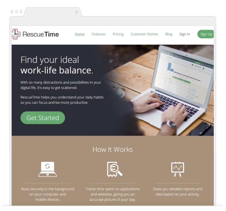 RescueTime - Time Management Tools- Shoutex feature