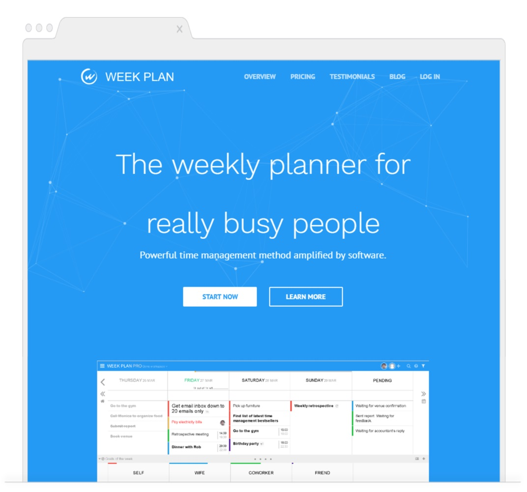 Week Plan- Time Management Tools- Shoutex feature