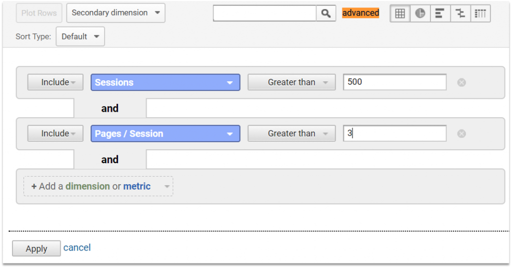 pages session filter